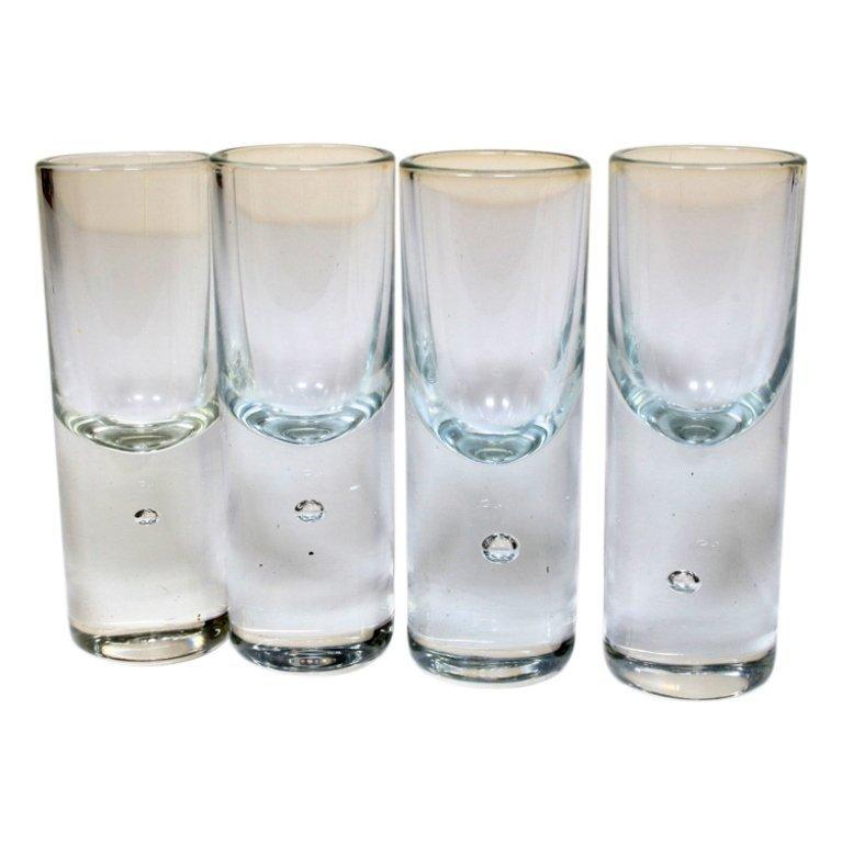 Set of 4 Tear Drop Style Shot Glasses