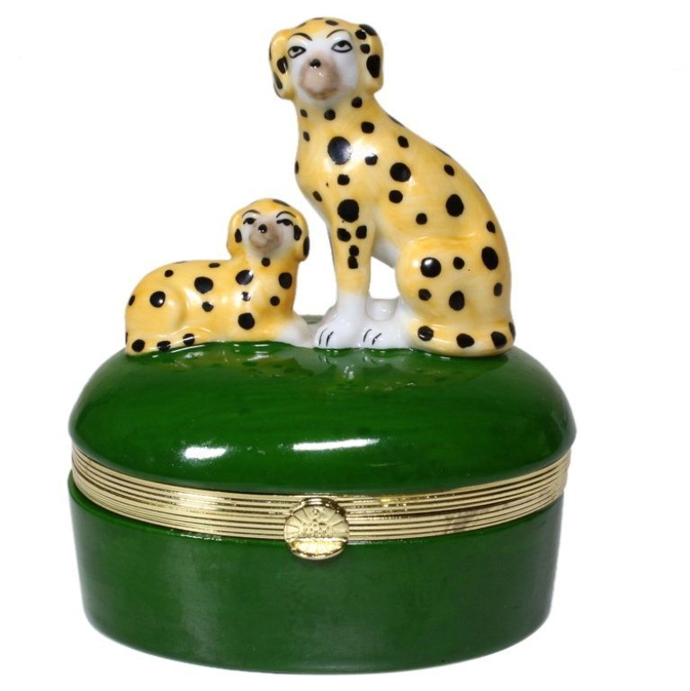 Keepsake Box with Spotted Dogs on Lid