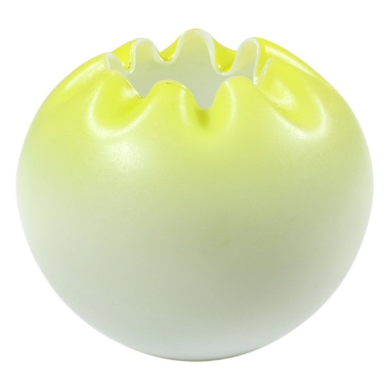 Cased Glass Yellow Bowl