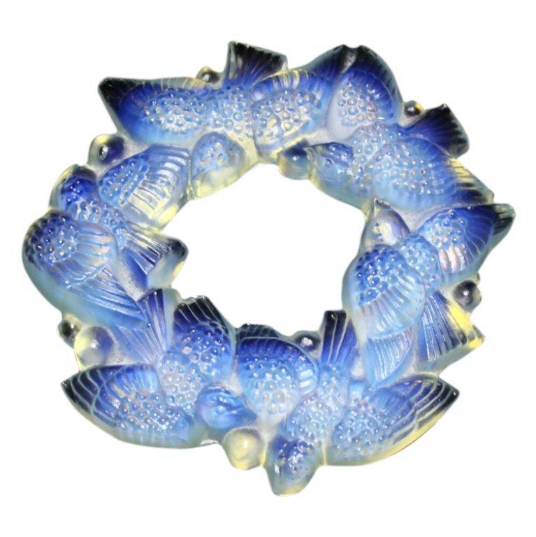 Sabino France Opalescent Glass Birds