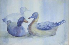 Hd Botkin Original Watercolor Decoy