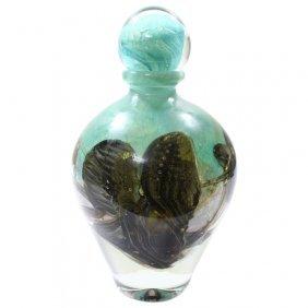 Jc Navarro Green Handblown Vase With Stopper