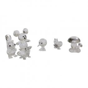 Five Swarovski Crystal Animal Miniatures