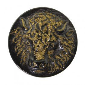 Buffalo Head Button