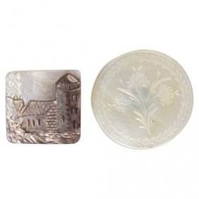 Pair Mother Of Pearl Buttons