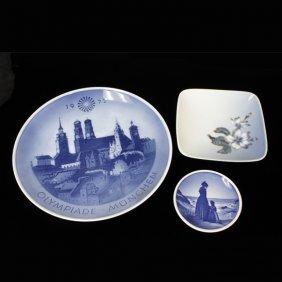 Set Of 3 Miscellaneous Royal Copenhagen Plates