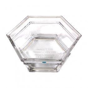 Tiffany And Co. Crystal Presentation Bowl