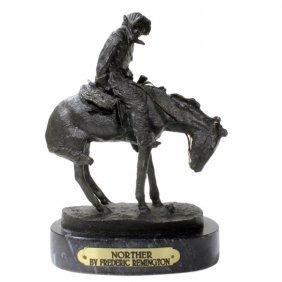 Frederic Remington Bronze Statue Norther