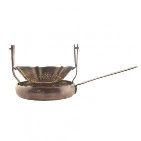 Peruvian Sterling Siam Marked Tea Strainer