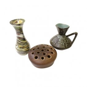 Group Of 3 Small Pottery Items
