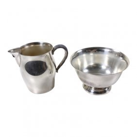 Paul Revere Reproduction Plated Sugar And Creamer