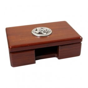Texas Wooden Business Card Box