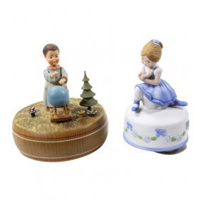Lot Of 2 Musical Figurines