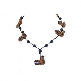 Vintage De Los Reyes Pottery Necklace