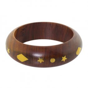 Inlaid Wooden Bangle