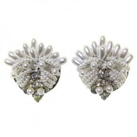 Faux Beaded Pearl Earrings