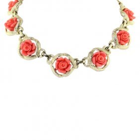 Sarah Coventry Rose Necklace