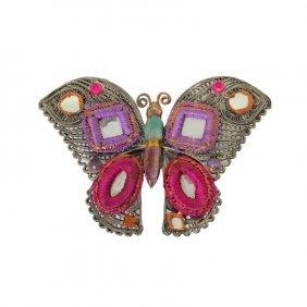 Gas Butterfly Brooch