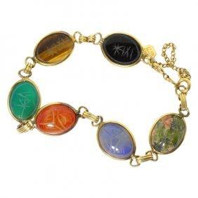 Karen Lynne Scarab Gemstone Bracelet