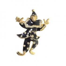 Vintage Articulated Clown Brooch