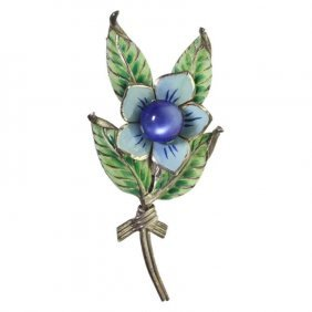Sterling Craft By Coro Floral Brooch