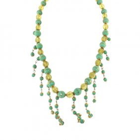 Miriam Haskell Beaded Wire Necklace