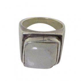 Iridized Quartz Sterling Ring