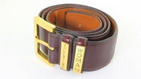 Valentino Woman Leather Belt