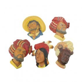 Collection Of Bossons Chalkware Heads