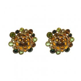 Swarovski Dome Earrings