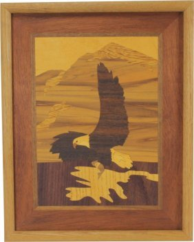 Eagle Inlaid Wood Art Marquetry