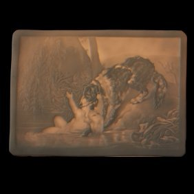 Ppm Porcelain Dog Saves Drowning Child Lithophane