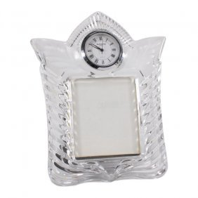 Waterford Crystal Photo Frame Clock