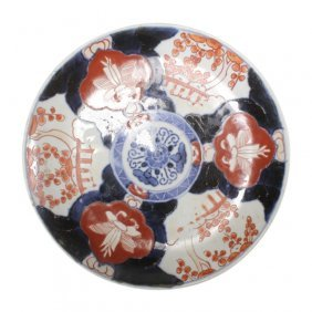 Japanese Imari Porcelain Polychrome Plate