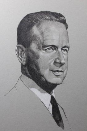 Charcoal And Pencil Portrait Of Juan Peron