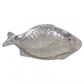 Arthur Court Aluminum Cast Fish Platter