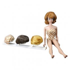 1960s Fashion Queen Barbie With 3 Wigs And Stand