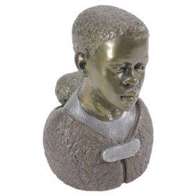 Casper Darare Ltd. Ed. Metal African Sculpture