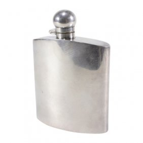 Mappin & Webb Silver Plated Flask