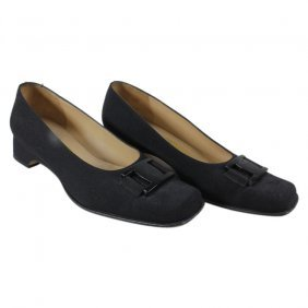 Salvatore Ferragamo Ladies Black Slip Ons