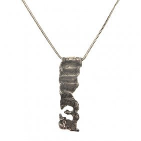 Sterling Scroll Necklace