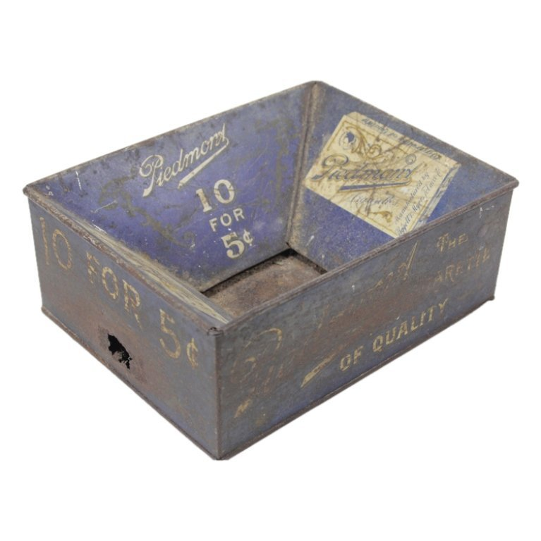 Vintage Metal Cigarette Box and Packages