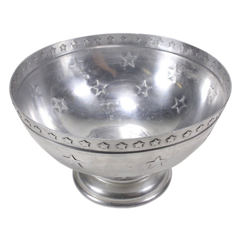 Western Theme Footed Punch Bowl