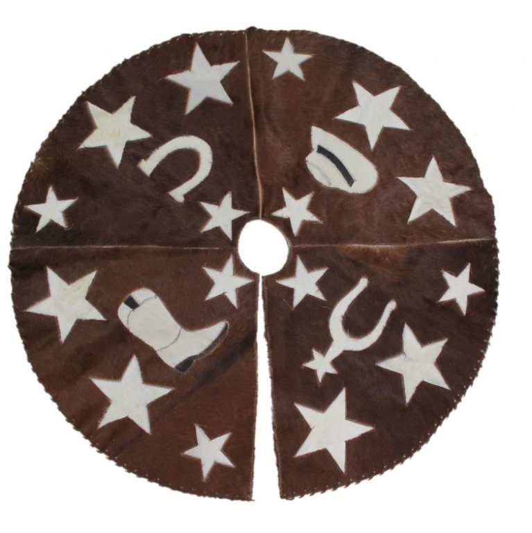 Cowhide Western Theme Tree Skirt