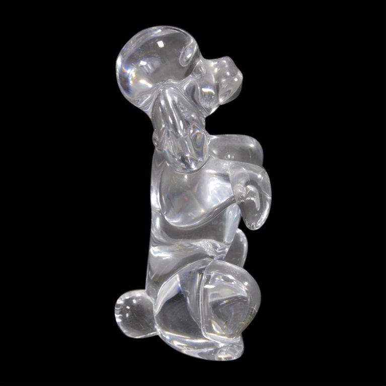 Sevres France Glass Poodle Dog Figurine