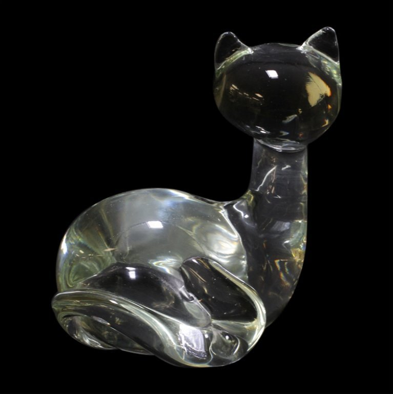 Licio Zanetti Murano Italian Art Glass Cat