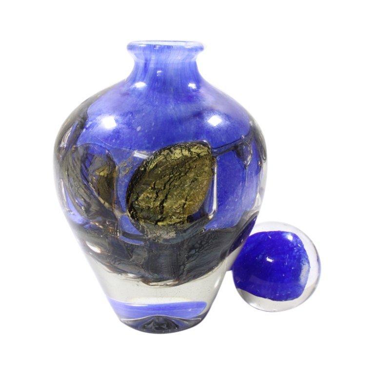 JC Navarro Blue Hand Blown Vase - 2