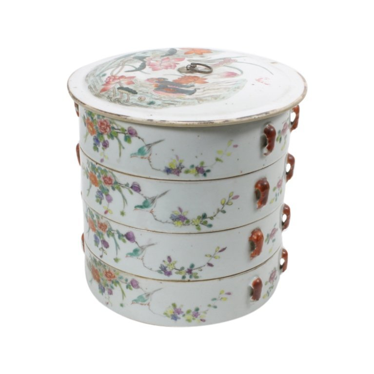 19th C. Chinese Porcelain Four-Tier Sweetmeat Box - 2