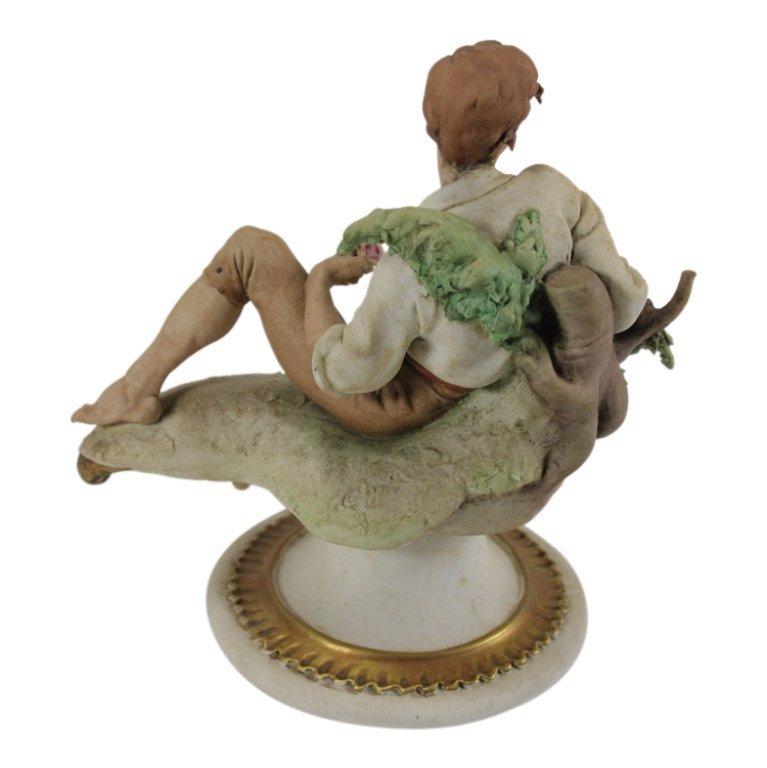 Giuseppe Cappe Peasant Man with Grape Figurine - 3