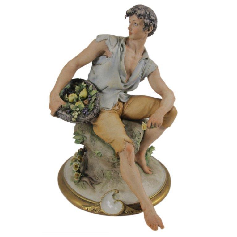 Giuseppe Cappe Peasant Man Figurine